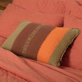 Green Bohemian Decor VHC Heather Striped 14x18 Pillow Cotton Southwestern Textured