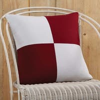 """Red and White Patchwork 18"""" x 18"""" Down Pillow"""