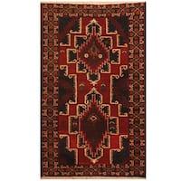 Handmade Herat Oriental Afghan Hand-knotted Tribal Balouchi Wool Rug (2'8 x 4'5)