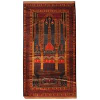 Handmade Herat Oriental Afghan Hand-knotted Tribal Balouchi Wool Rug  - 3'1 x 5'7 (Afghanistan)