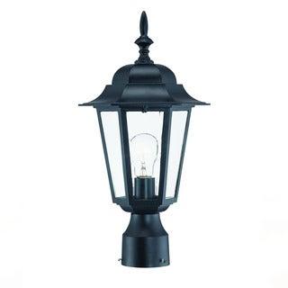 Acclaim Lighting Camelot Collection Post-Mount 1-Light Outdoor Matte Black Light Fixture