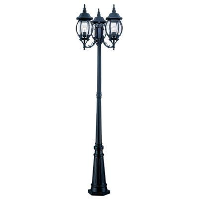 Acclaim Lighting Chateau Collection Matte Black Aluminum Lamp Post