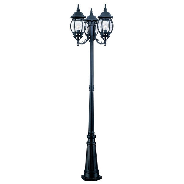 shop acclaim lighting chateau collection matte black aluminum  glass 3