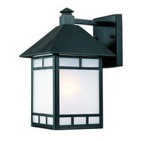 Acclaim Artisan Collection 1-Light Matte Black Outdoor Wall Light