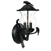 Acclaim Avian Collection 2-Light Outdoor Black Coral Wall Lantern