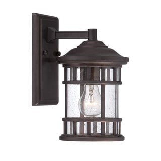 Acclaim Lighting Vista II Collection Wall-Mount 1-Light Outdoor Architectural Bronze Light Fixture