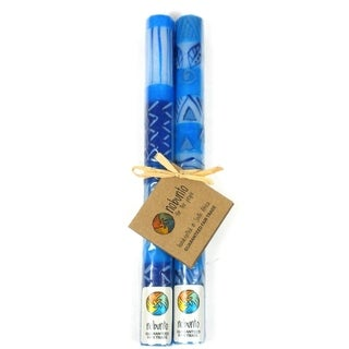 Tall Hand Painted Candles - Pair -Feruzi Design (South Africa)
