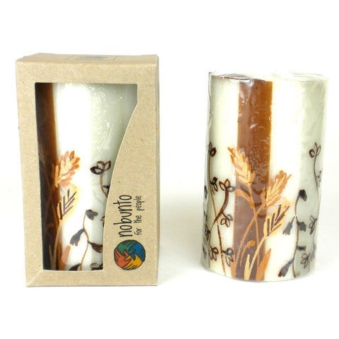 Hand Painted Candle - Single in Box - Kiwanja Design (South Africa)
