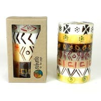 Hand Painted Candle - Single in Box - Akono Design (South Africa)