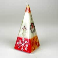 Hand Painted Candle - Pyramid - Kimeta Design (South Africa)