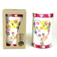 Hand Painted Candle - Single in Box - Mamako Design (South Africa)