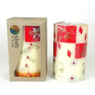 Hand Painted Christmas Candle - Single in Box - Kimeta Design (South Africa)