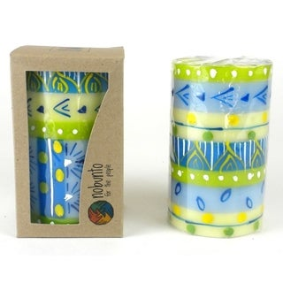 Hand Painted Candle - Single in Box - Ihlobo Design (South Africa)