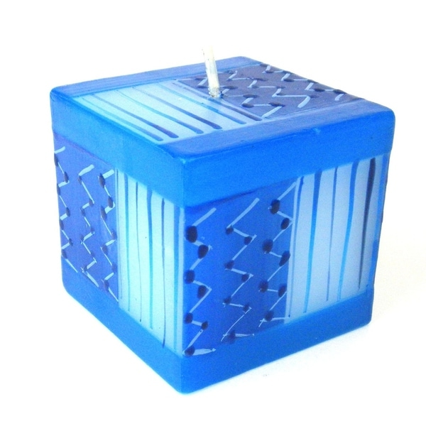 Hand Painted Candle - Cube - Feruzi Design (South Africa)