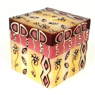 Hand Painted Candle - Cube - Halisi Design (South Africa)