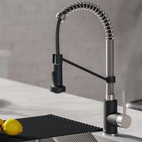 Kraus KPF-1610 Bolden 1-Handle 2-Function Sprayhead 18 inch Commercial Pull Down Kitchen Faucet