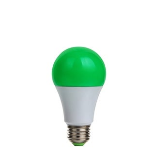 6 Pack LED A19 9.5W Green/Vert EQV60W Dimmable