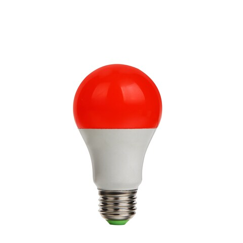 6 Pack LED A19 9.5W Red/Rouge EQV60W Dimmable