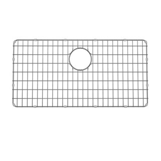 "33"" Stainless Steel Kitchen Sink Bottom Grid with Soft Rubber Bumpers"