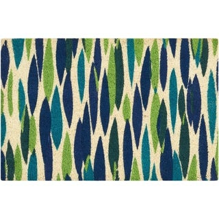 """Waverly Greetings """"Bits n' Pieces"""" Bluebell Doormat by Nourison (2' x 3')"""