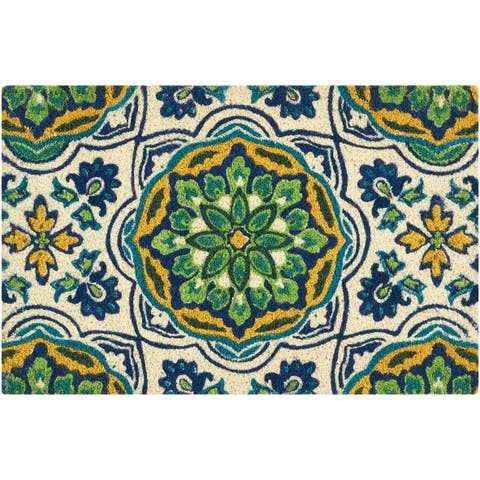 """Waverly Greetings """"Tapestry"""" Bluebell Doormat by Nourison - 2' x 3'"""