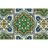 "Waverly Greetings ""Tapestry"" Bluebell Doormat by Nourison - 2' x 3'"