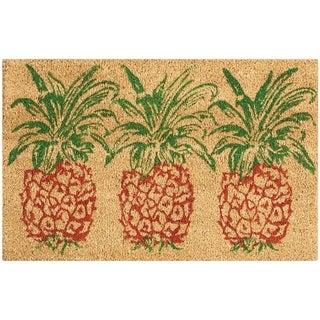 "Waverly Greetings ""Pineapple"" Orange Doormat by Nourison (2' x 3')"