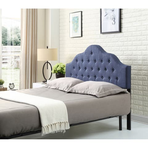 Hodedah Queen-Size Upholstered Tufted Victorian Style Headboard