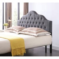 Hodedah King Upholstered Tufted Rounded Headboard