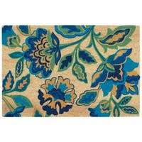 "Waverly Greetings ""Katia Work"" Aqua Doormat by Nourison - 2' x 3'"