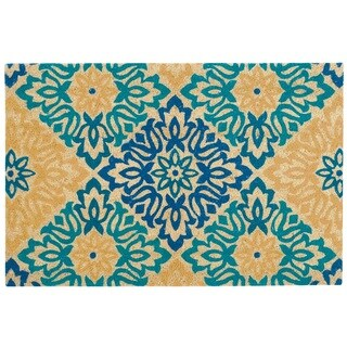 "Waverly Greetings ""Sweet Things"" Aqua Doormat by Nourison (2' x 3')"