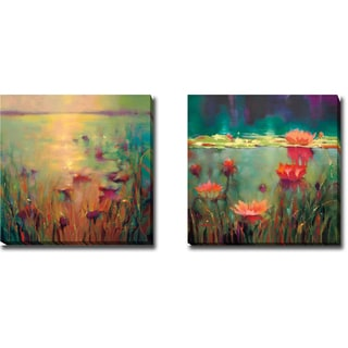 Artistic Home Gallery Donna Young's 'Morning and Nightfall' 2-piece Gallery-wrapped Canvas Giclee Art Set