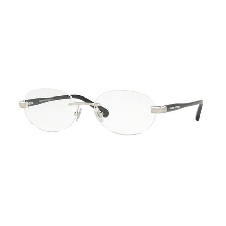 d6e95dc0c6 Shop Brooks Brothers Men s BB1051 1681 55 Satin Silver Black Oval Metal  Eyeglasses - Free Shipping Today - Overstock.com - 17961229