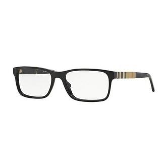 a6a08f88e8ec Burberry Men  x27 s BE2162 3001 55 Black Rectangle Plastic Eyeglasses