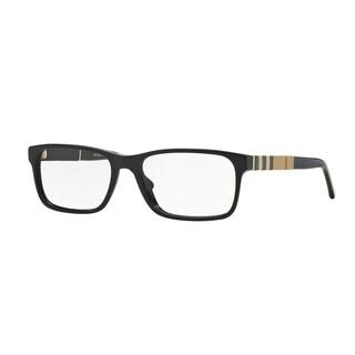 Burberry Men's BE2162 3001 55 Black Rectangle Plastic Eyeglasses