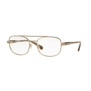 Brooks Brothers Men's BB1050 1677 53 Sand/Lt. Brown Horn Aviator Metal Eyeglasses