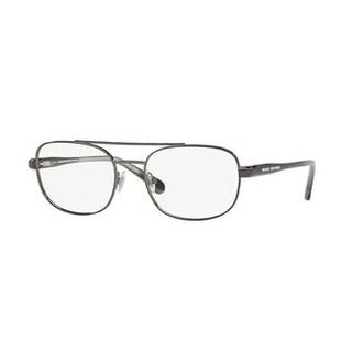 Brooks Brothers Men's BB1050 1676 55 Gunmetal/Grey Horn Aviator Metal Eyeglasses
