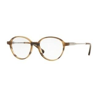 Brooks Brothers Men's BB2035 6116 49 Lt. Brown Horn/Gunmetal Rectangle Plastic Eyeglasses