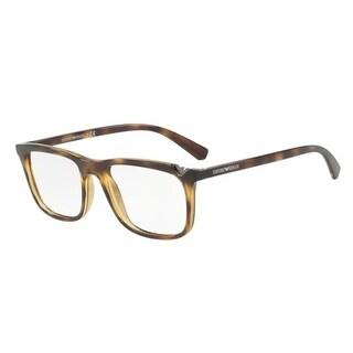 Emporio Armani Men's EA3110F 5026 56 Dark Havana Rectangle Plastic Eyeglasses