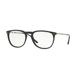 Burberry Men's BE2258QF 3001 55 Black Square Plastic Eyeglasses