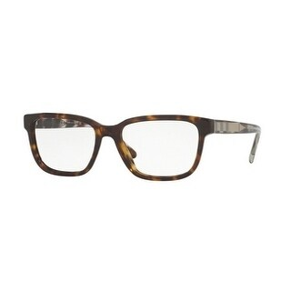 Burberry Men's BE2230F 3002 55 Dark Havana Square Plastic Eyeglasses