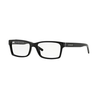 Burberry Men's BE2108 3001 54 Black Square Plastic Eyeglasses