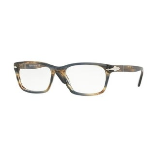 Persol Men's PO3012V 1049 54 Striped Brown Grey Square Plastic Eyeglasses