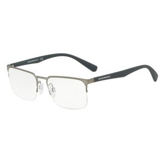 Emporio Armani Men's EA1062 3010 53 Matte Gunmetal Rectangle Metal Eyeglasses