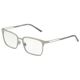 Dolce & Gabbana Men's DG1295 4 55 Gunmetal Rectangle Metal Eyeglasses