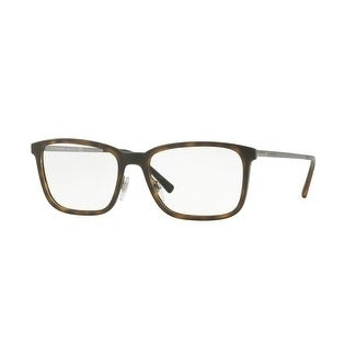 d712d45daa8f Shop Burberry Men s BE1315 1008 54 Matte Dark Havana Rectangle Metal  Eyeglasses - Free Shipping Today - Overstock - 17961591