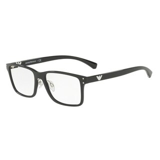 Emporio Armani Men's EA3114 5017 55 Black Rectangle Plastic Eyeglasses