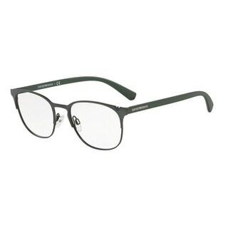 Emporio Armani Men's EA1059 3180 51 Matte Green/Matte Black Oval Metal Eyeglasses