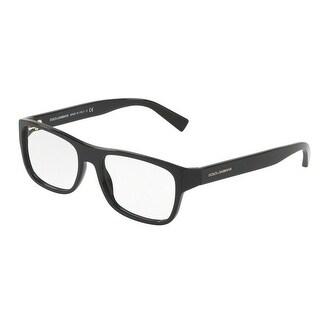 Dolce & Gabbana Men's DG3276F 501 54 Black Rectangle Plastic Eyeglasses
