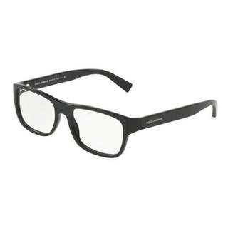 Dolce & Gabbana Men's DG3276F 501 54 Black Rectangle Plastic Eyeglasses